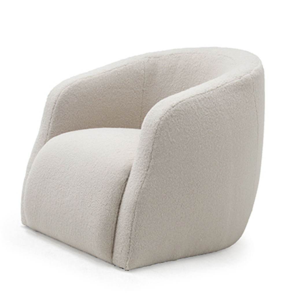 "We love the comfortable way your arms just relax on the thoughtful curves of this Theo Club Chair by Verellen furniture!  As shown in our favorite ""poodle cream"" fabric.  A Verellen best-seller, the Theo Occasional Chair is bench-crafted with a sustainably harvested hardwood frame.  A firm, yet comfortable, tight seat available in a stationary club chair or as a swivel!"