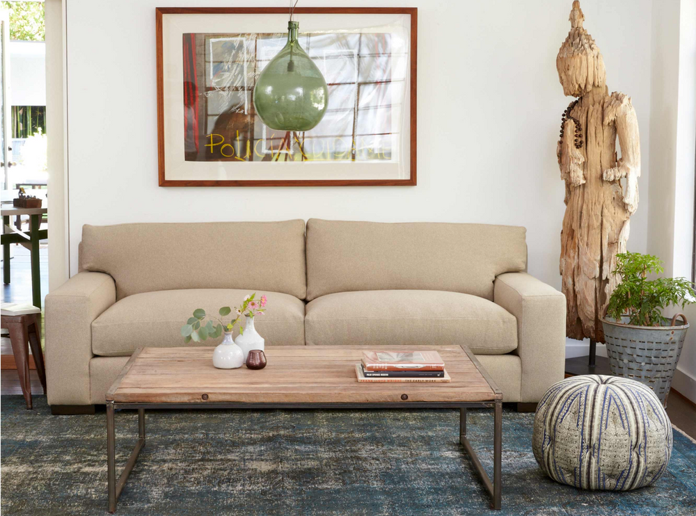"This Loft sofa is a shop favorite -- simply beautiful and so comfortable for the modern family!  Enjoy this sofa upholstered or slipcovered.  Down filled back cushions are a breeze to fluff and reshape. 84""w x 29""h x 40""d Seat Space: 66""w x 25""d x 20""h"