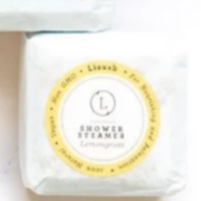 Enjoy a wonderfully fragrant shower experience with this lemongrass essential oil shower steamer cube fizzy! Each fizzy is a one-time use for a shower experience.