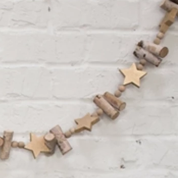 Birch Star Garland