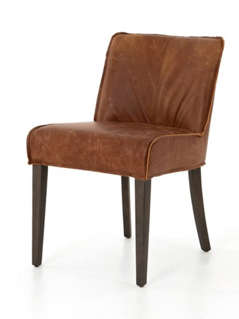 Aria Cognac Leather Dining Chair