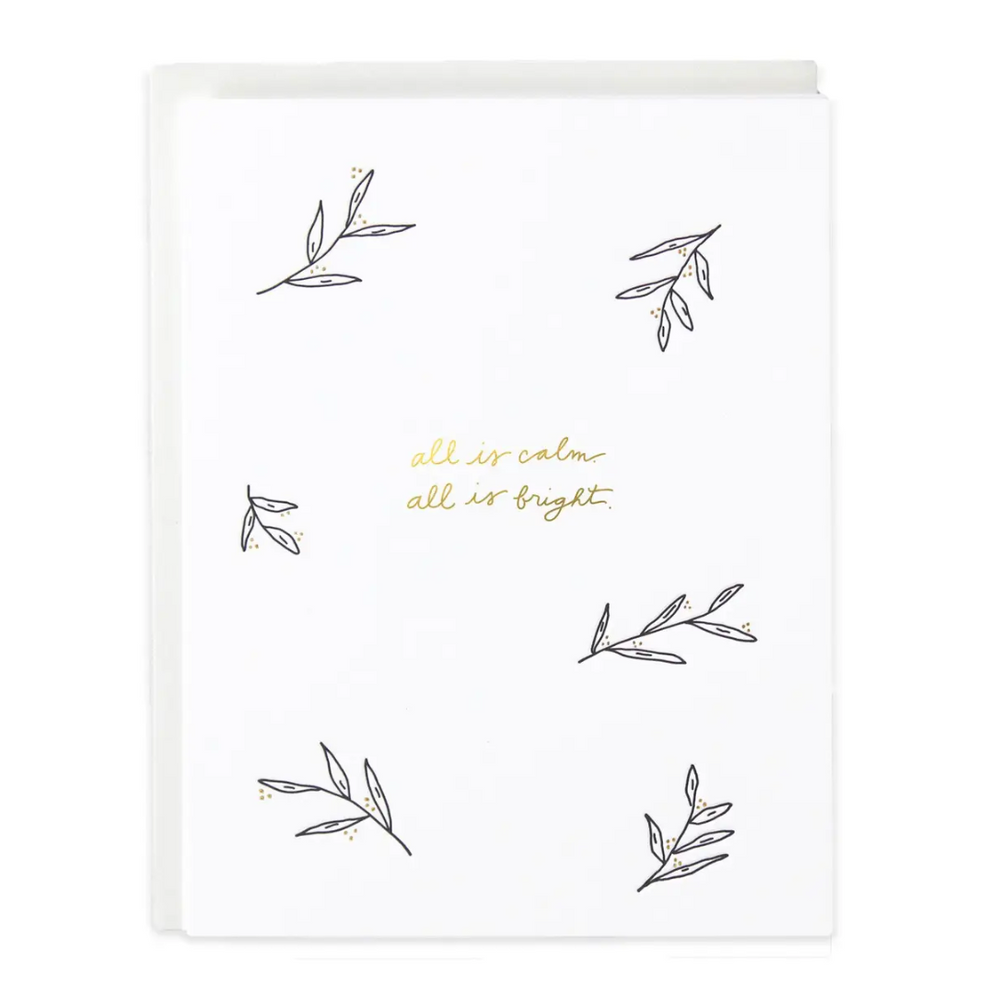 All Is Calm & Bright Greeting Card