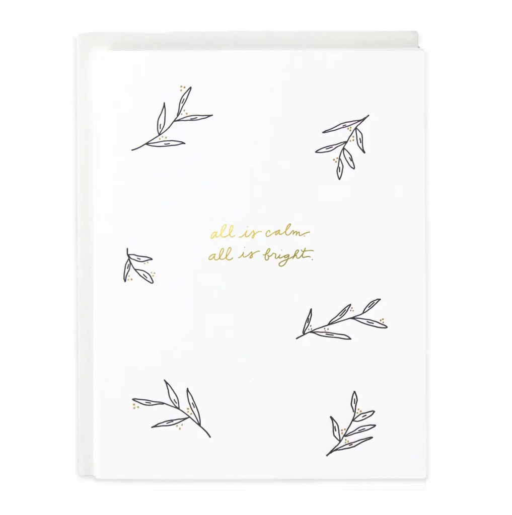 All Is Calm & Bright Greeting Card - Amethyst Home
