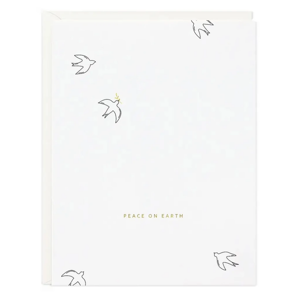 Peace On Earth Doves Greeting Card