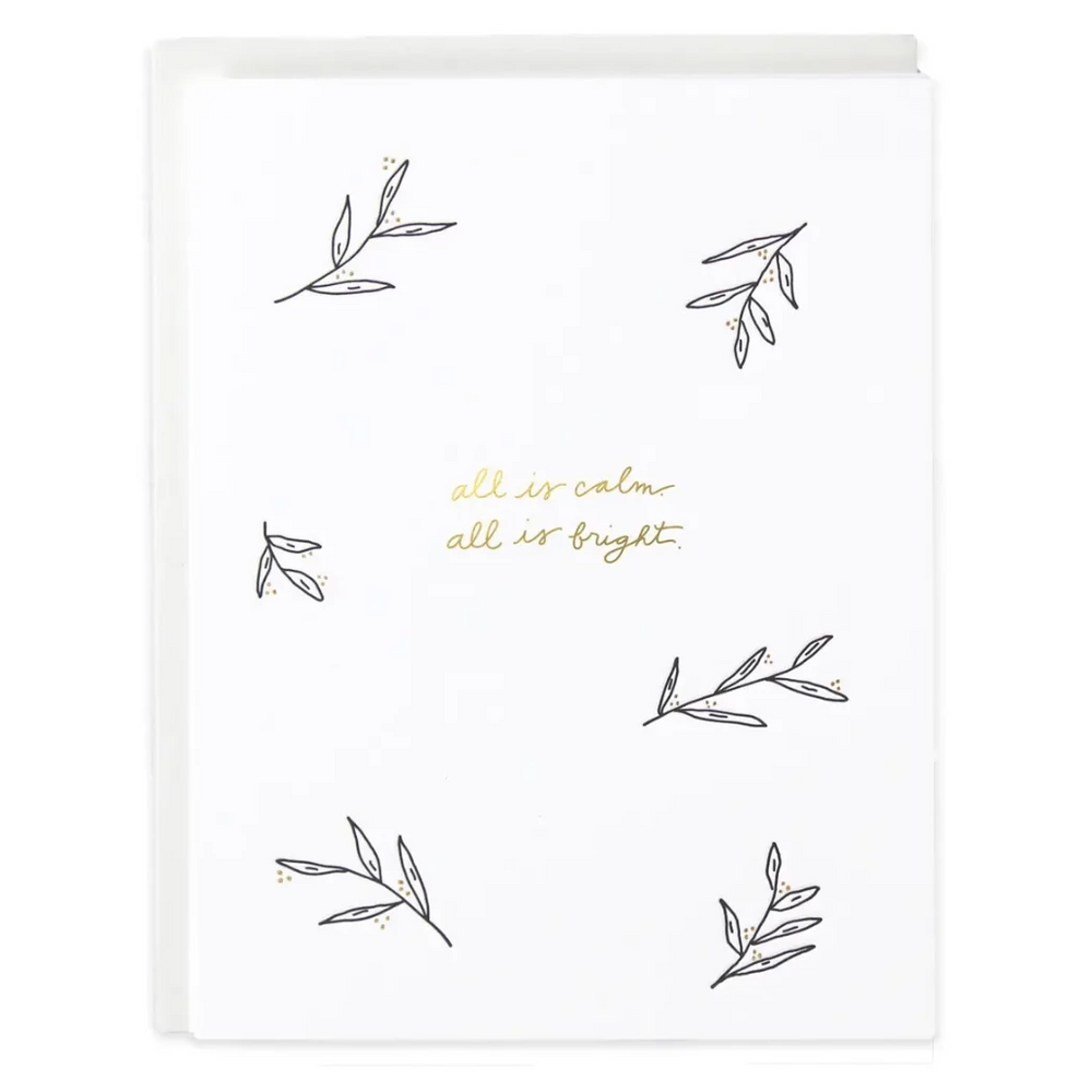 Set of 6 All Is Calm & Bright Greeting Card