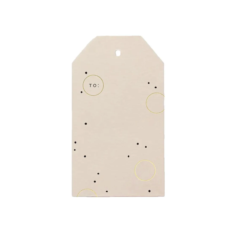 Joyful Dots Gift Tag - Amethyst Home