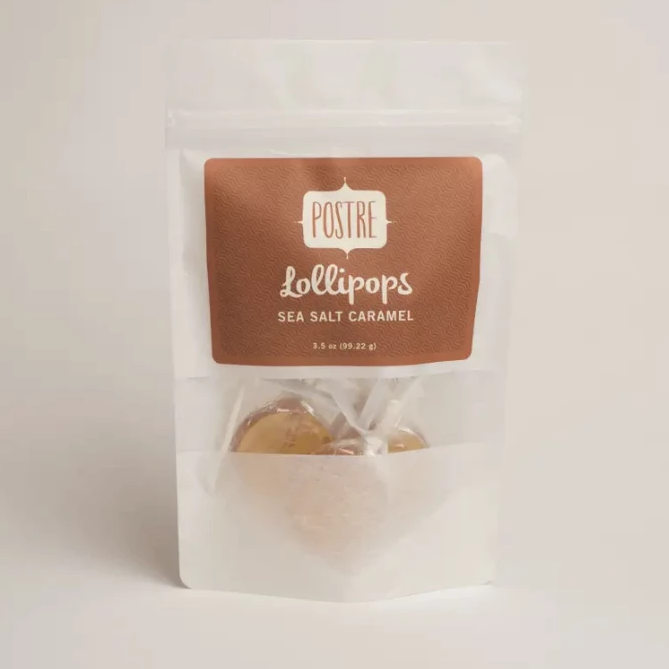 3.5oz Bag Sea Salt Caramel Lollipops