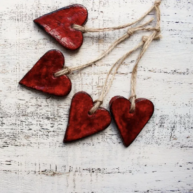 Rustic Red Heart Ornament