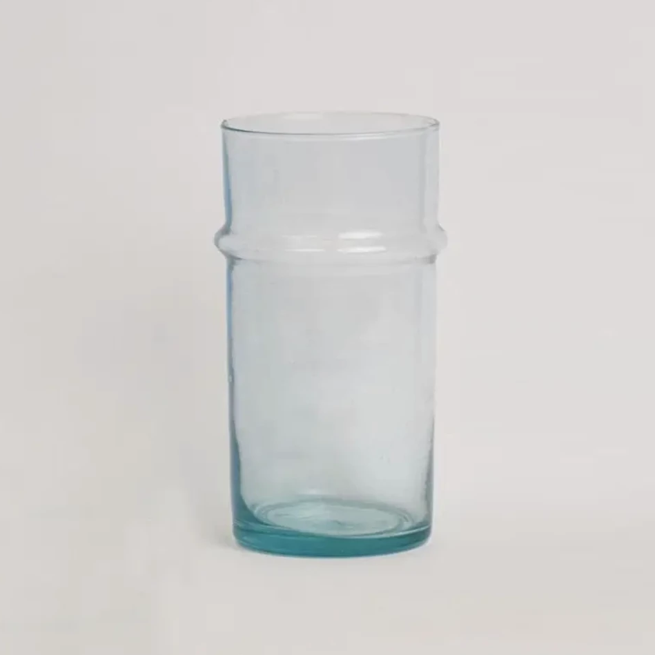 Moroccan Large Clear Glass Traditional Vase
