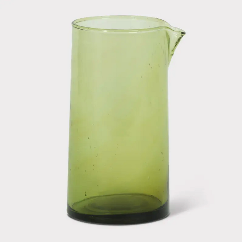 Recycled Green Glass Carafe - Amethyst Home