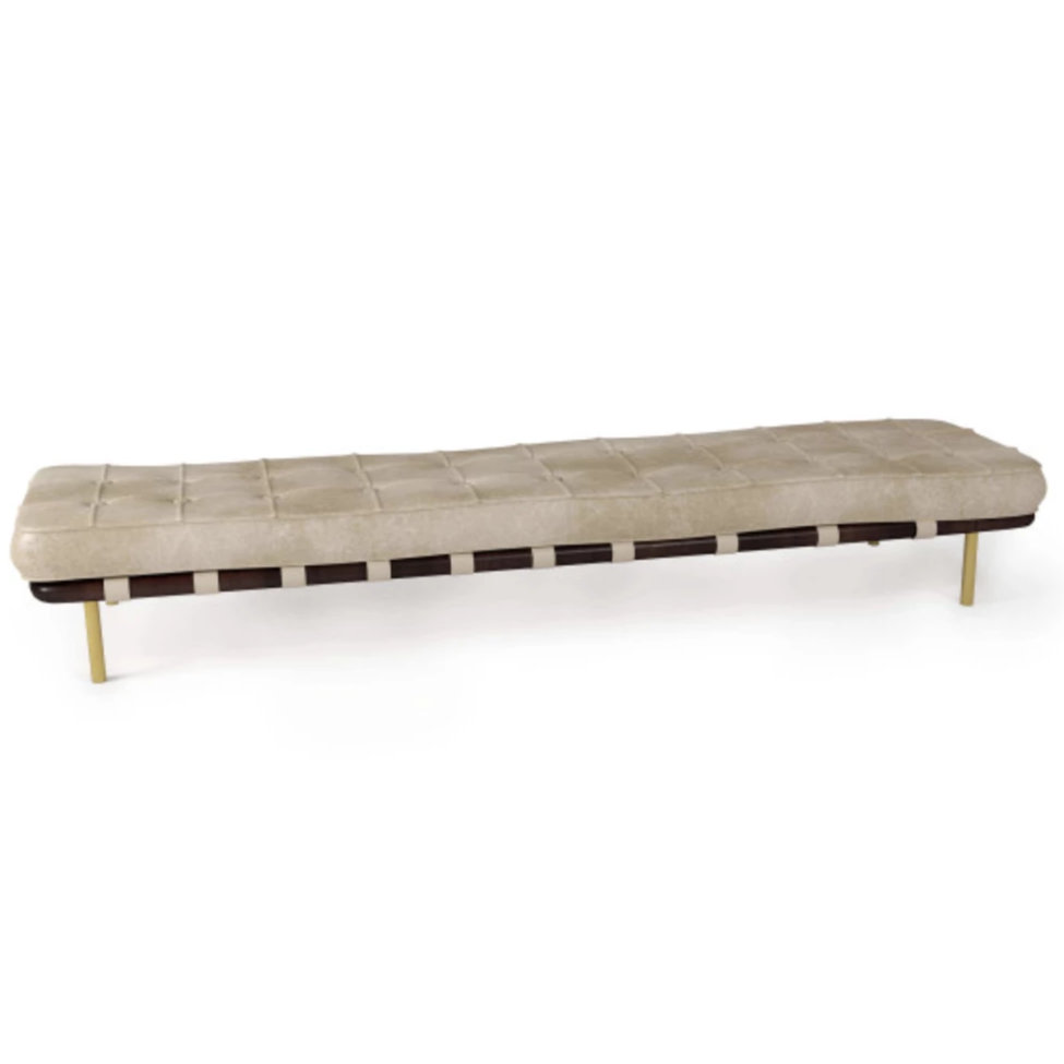 Tufted Gallery Bench - Amethyst Home