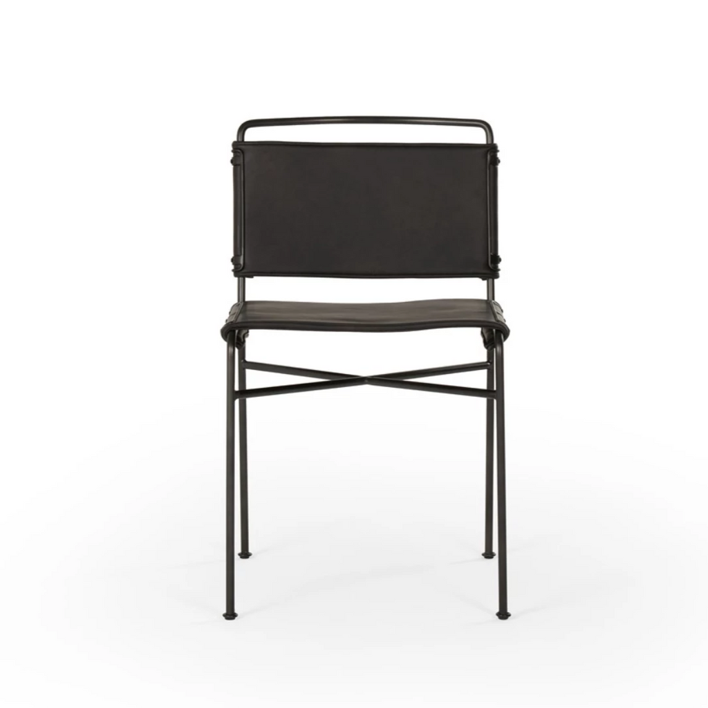 Wharton Dining Chair - Distressed Black