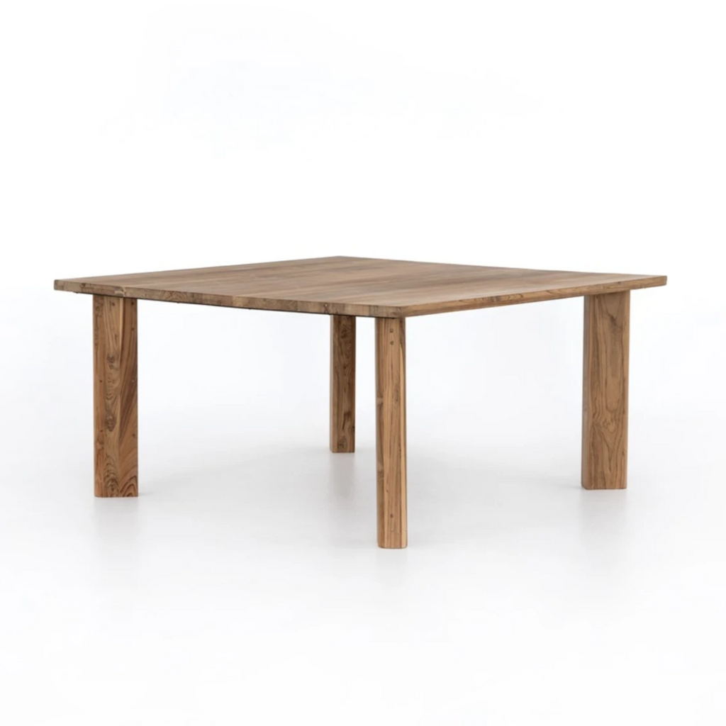 Kimball Square Dining Table - Natural Reclaimed Teak - Amethyst Home