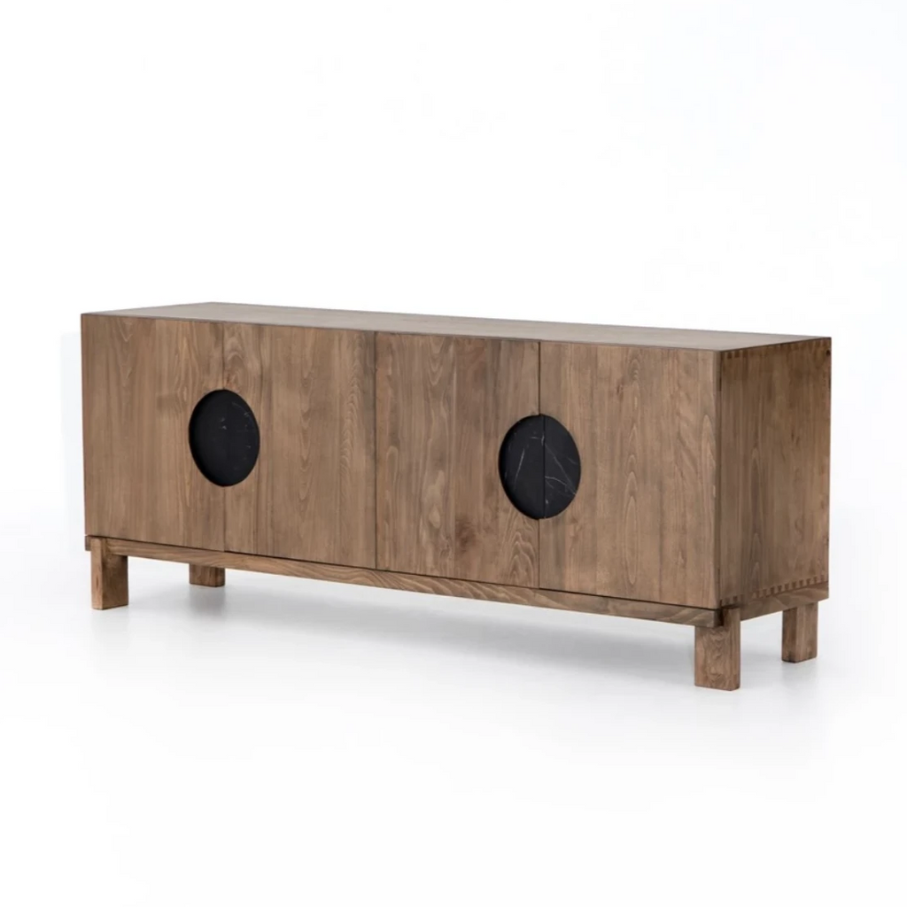 Monte Media Console - Golden Beech - Amethyst Home