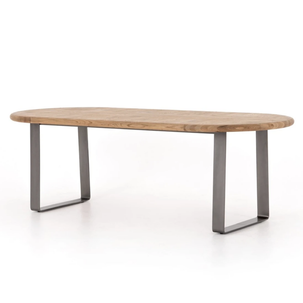Skate Oval Dining Table - Amethyst Home