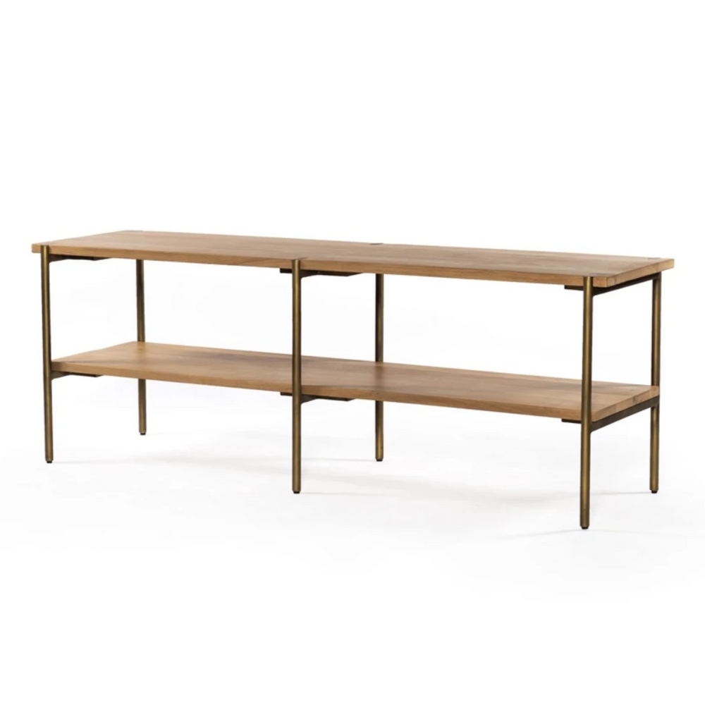 Carlisle Low Console Table - Amethyst Home