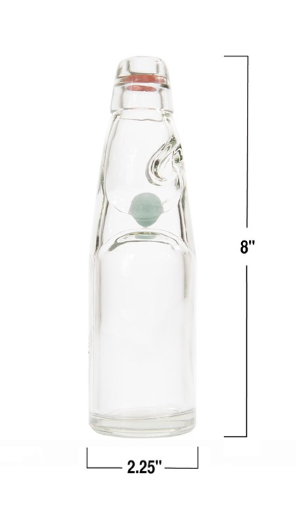 Recycled Glass Soda Bottle - Amethyst Home