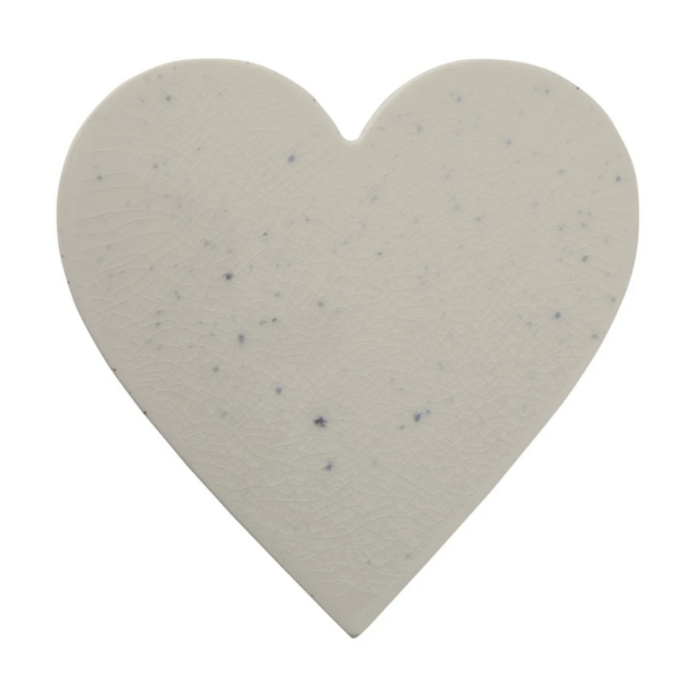 Blue Speckled Heart Cheeseboard - Amethyst Home