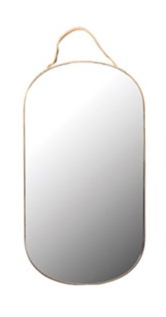 Velvet Edged Mirror - Amethyst Home