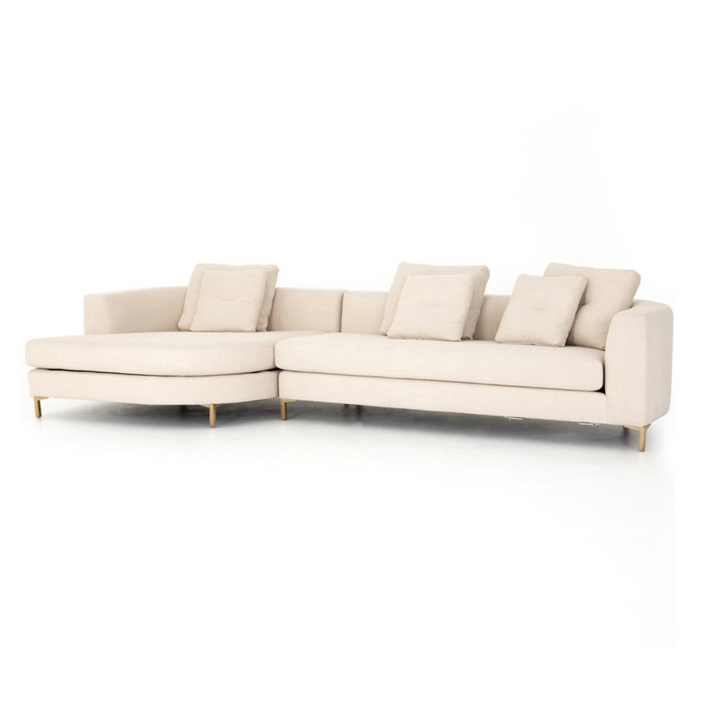 Greer 2-Piece Sectional with Rounded Chaise - Amethyst Home