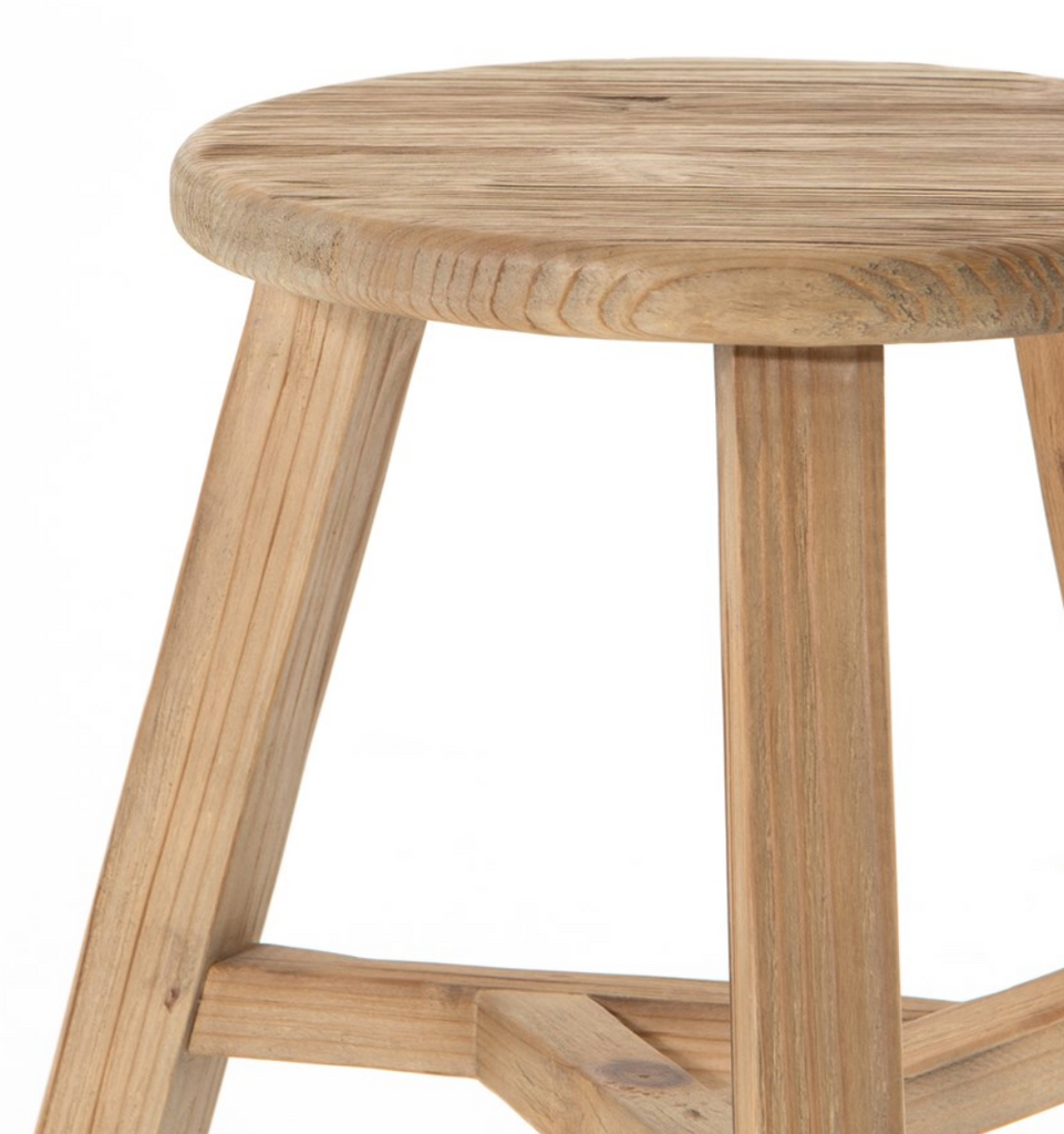 Hattie Round Accent Stool - Amethyst Home