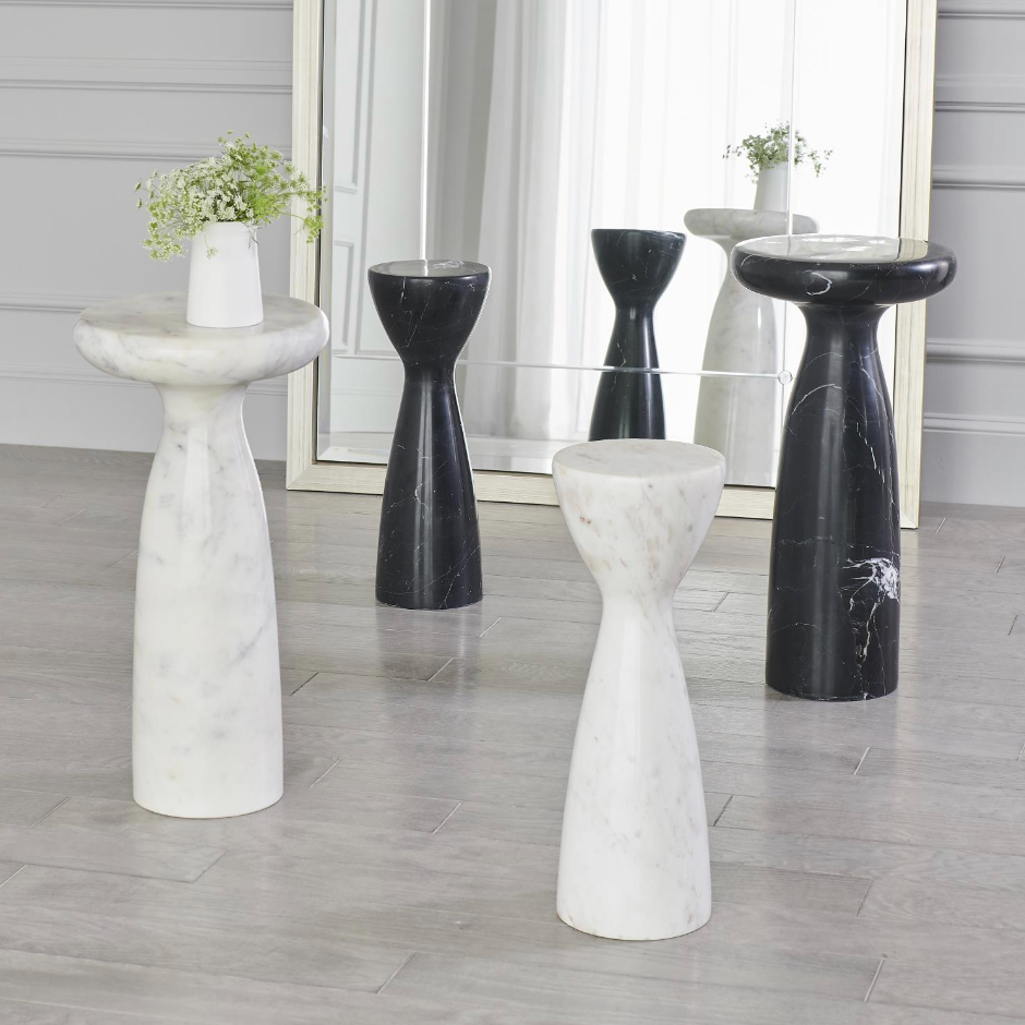 Marble Tower Table - Amethyst Home
