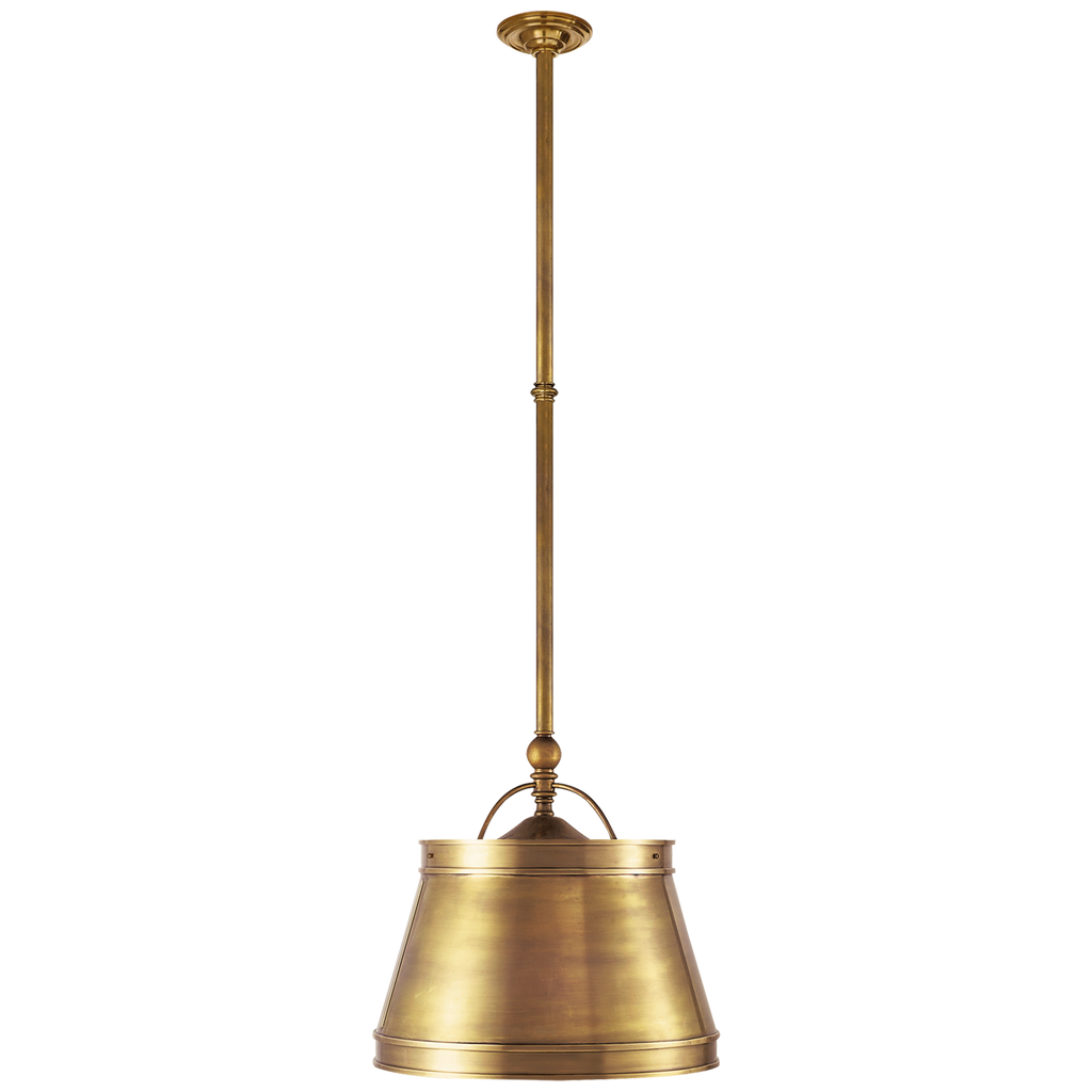 "The we love the antique, classy feel this Sloane Antique Brass Single Shop Light by Visual Comforts brings to a room. This would look gorgeous over a kitchen island or sink   Size: 11.5"" x 15.5"" x 10"""