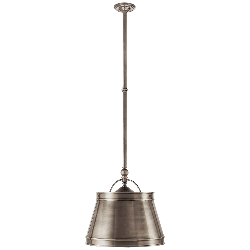 "The we love the antique, classy feel this Sloane Antique Nickel Single Shop Light by Visual Comforts brings to a room. This would look gorgeous over a kitchen island or sink   Size: 11.5"" x 15.5"" x 10"""