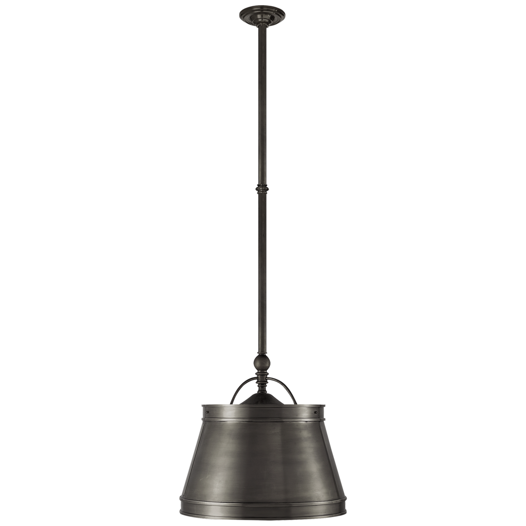 "The we love the antique, classy feel this Sloane Bronze Single Shop Light by Visual Comforts brings to a room. This would look gorgeous over a kitchen island or sink   Size: 11.5"" x 15.5"" x 10"""