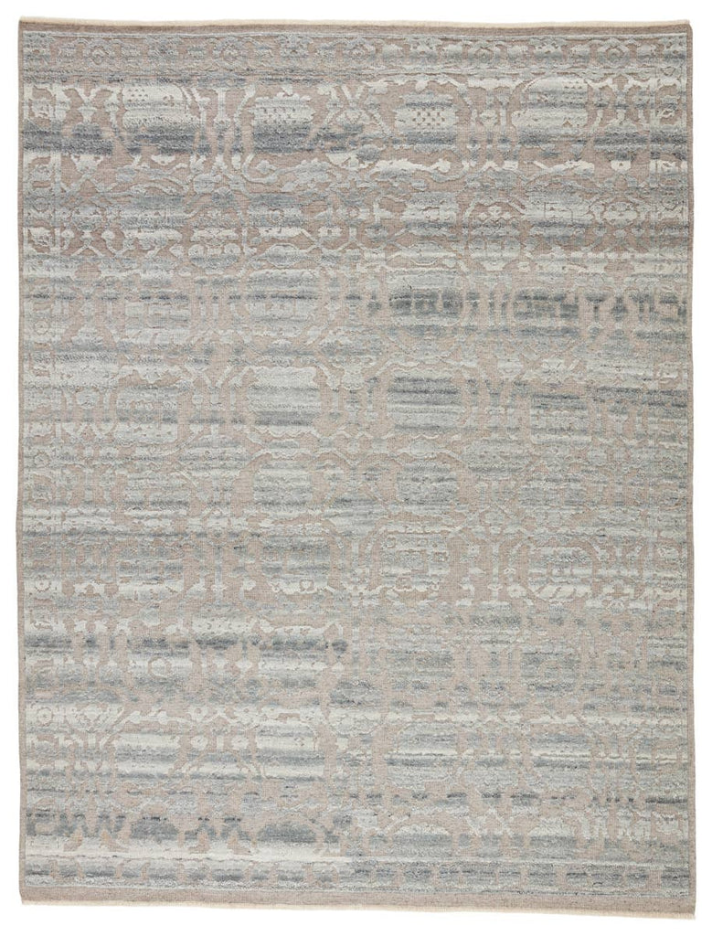 The Sonnette Pearson Area Rug combines an inviting, soft hand and stunning transitional style. The hand-knotted Sonnette area rug has gorgeous tonal grays and creams with a subtle design. The fringe trimmed detail adds a touch of global charm. A gorgeous choice for your bedroom, office, or other medium traffic areas.