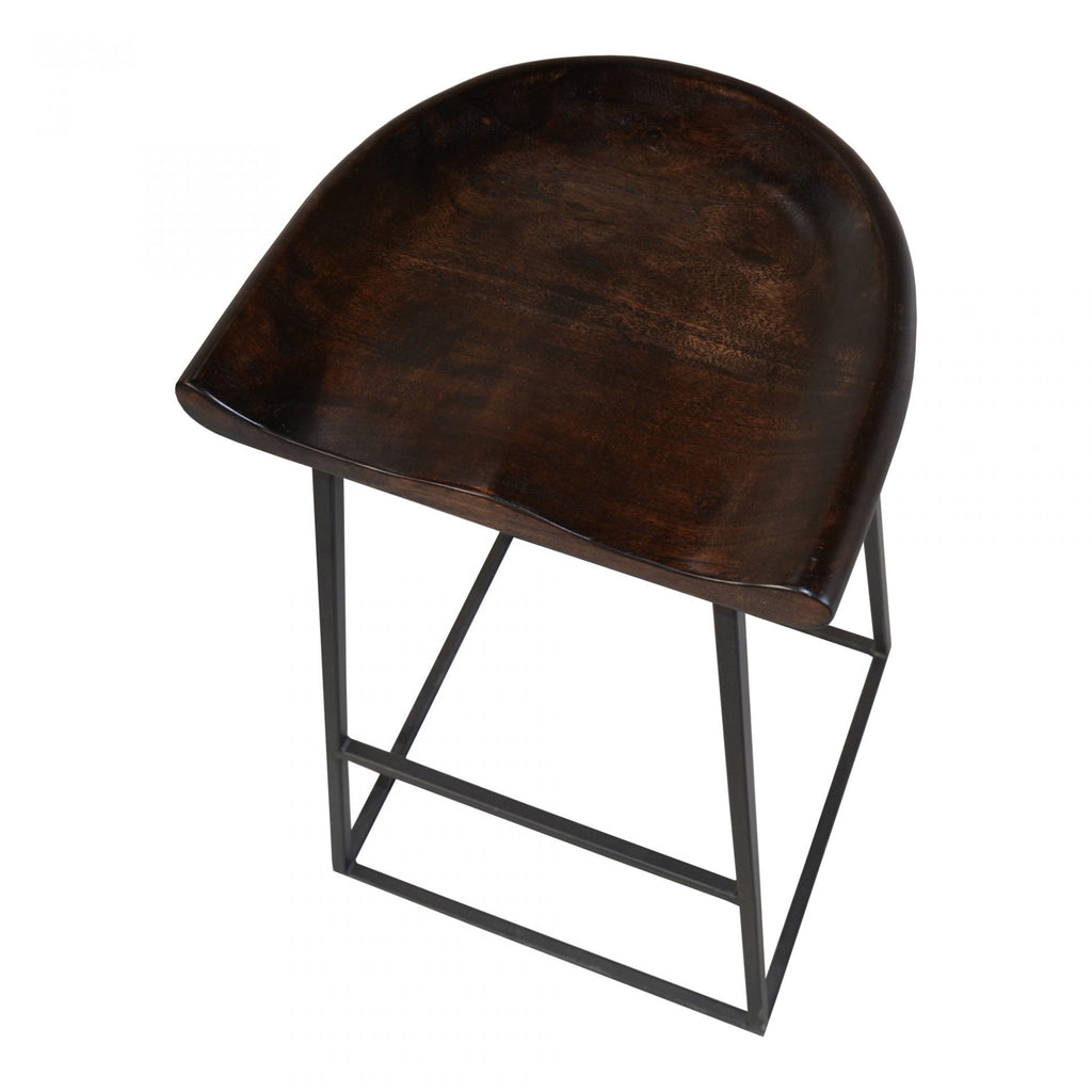 "We love the acacia wood matched with the steel base of this Jackman Counter Stool. It brings an industrial vibe to any space.   Size: 16.5""w x 16""d x 25.5""h"