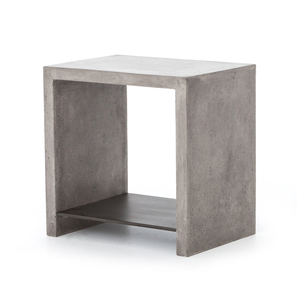 Hugo End Table - Dark Grey - Amethyst Home