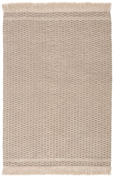 Bohemian and rich with texture, the eco-friendly Villa collection boasts a versatile handwoven design to both high-traffic areas and outdoor spaces. The Soleil area rug provides a relaxed, grounding accent to patios, kitchens, and dining rooms with durable PET yarn. The neutral and inviting beige and dark taupe colorway complements any style or look, while the boucle and natural fringe details offer charming additions to this performance rug.  Indoor / Outdoor 100% PET Yarn VIL01 Villa Soleil Rug