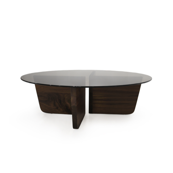 "The Valencia Coffee Table is bench-crafted with sustainably harvested hardwood in Verellens North Carolina atelier. The abstract base of this coffee table makes it all the more stunning. A must have piece for any living room or den!   Overall dimensions: 48"" Diameter x 15"" H  Each piece is crafted in the US just for you! Please allow 8-16 weeks for production and shipment."