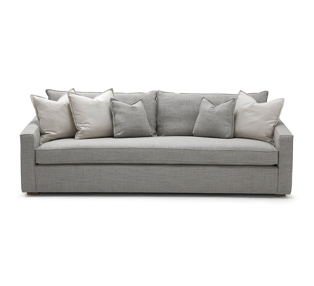 The Duke Sofa from Verellen is perfect for families and enjoyable in all seasons of life. Each sofa is custom made with your style, fabric, length, and comfort in mind. When your sofa is made, it's created from sustainably harvested hardwood by expert craftspeople. Amethyst Home proudly serves the Los Angeles metro.