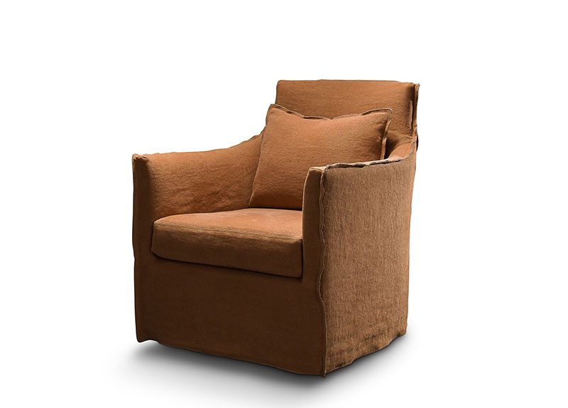 The Victoria Swivel Glider Chair by Verellen is bench-crafted with a sustainably harvested hardwood frame and comes standard with:  Soy based poly/down wrap seat construction Loose boxed seat cushion Knife edge top/notch bottom back pillow with inside out stitch detail Standard with inside out stitch detail and raw hemline Double needle stitch detail Continuous swivel and glider mechanism Standard upholstered base Can be slipcovered for an additional charge Can also be configured as a club chair