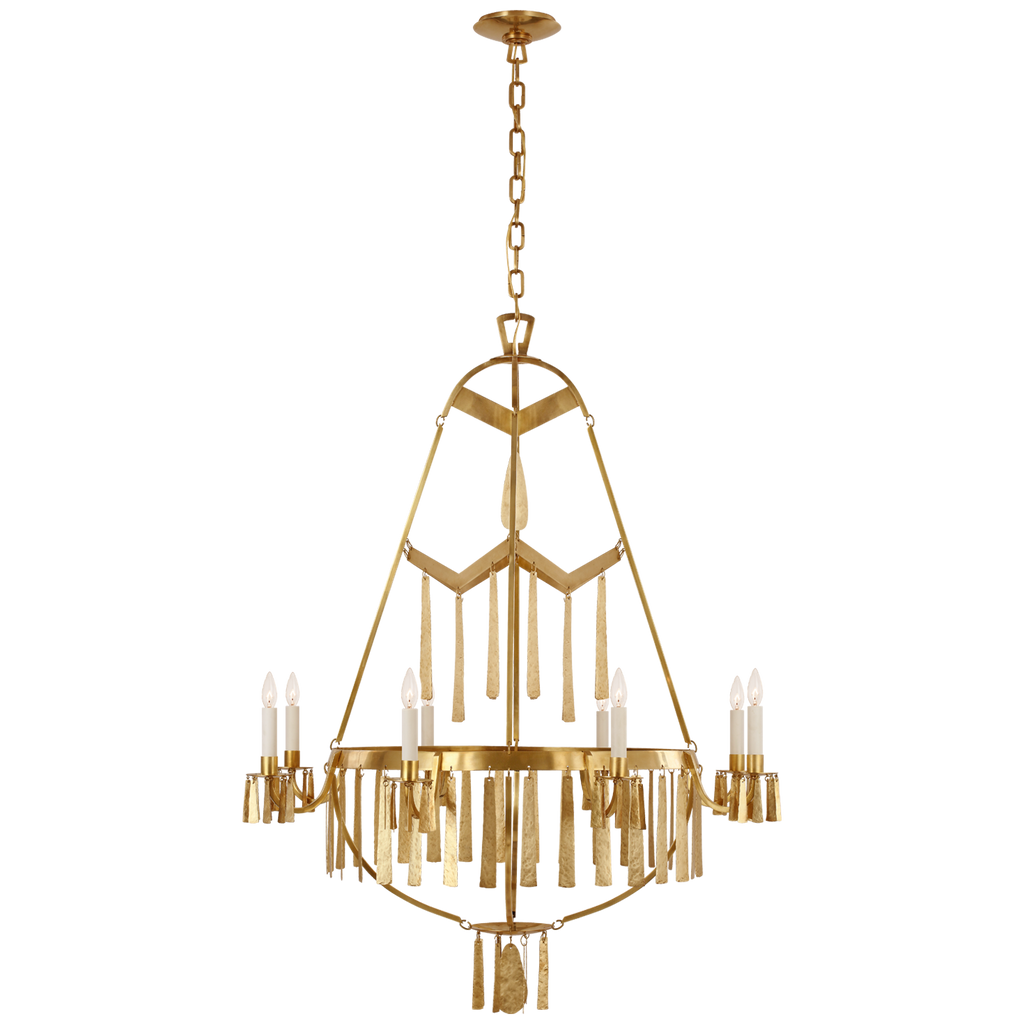 Classy meets whimsical with this Zachary Large Chandelier. Sure to be a statement piece for any foyer, living room, or other large area.