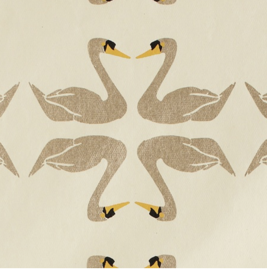 Handmade Swan Recycled Cotton Gift Wrap
