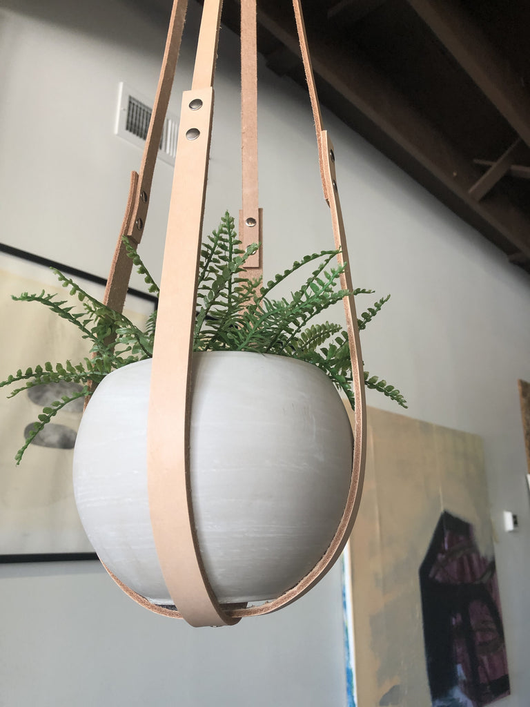 Small Leather Plant Hanger