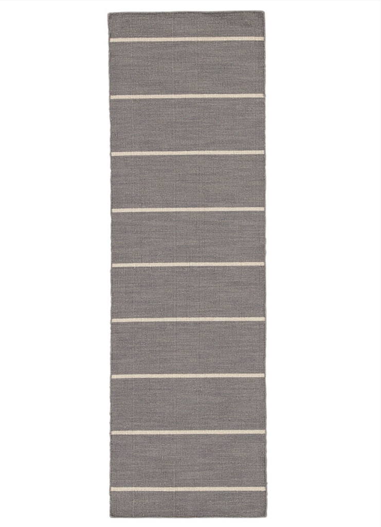 "Grey Stripe Runner 2'6"" x 8'"