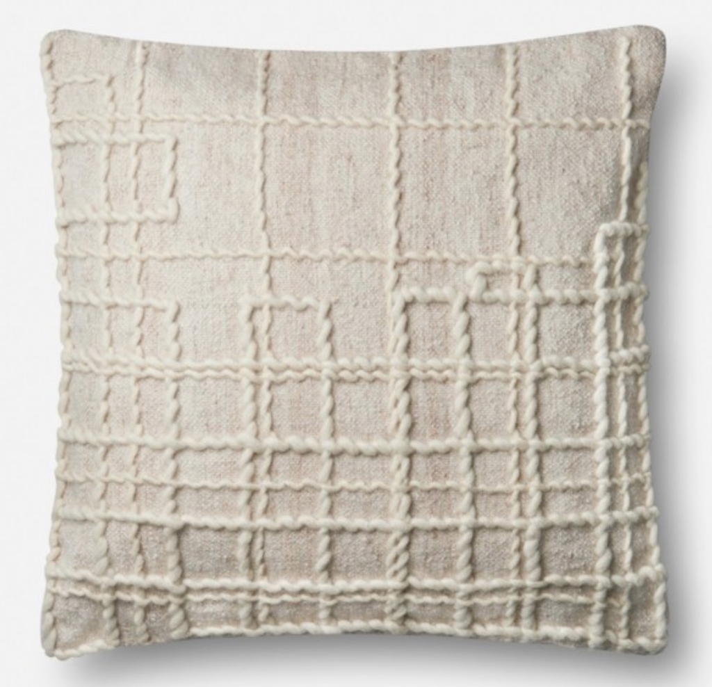 Woven Grid Pillow 22x22 - Amethyst Home