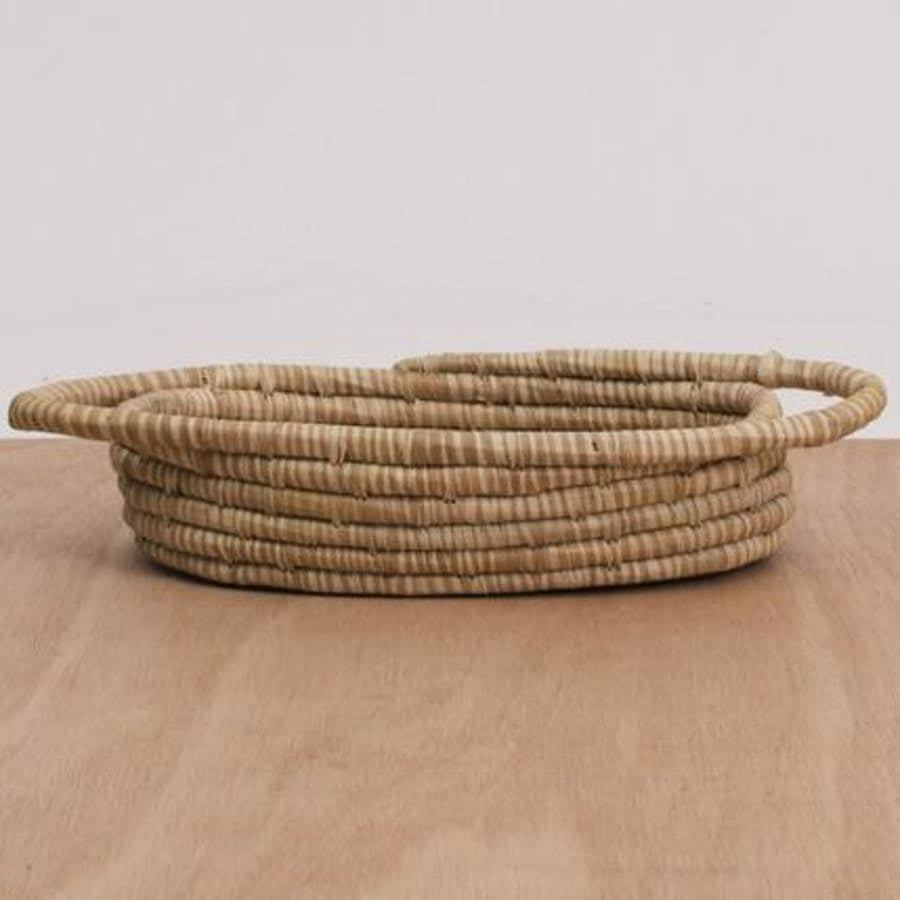 Heathered Soft Gold Oval Basket