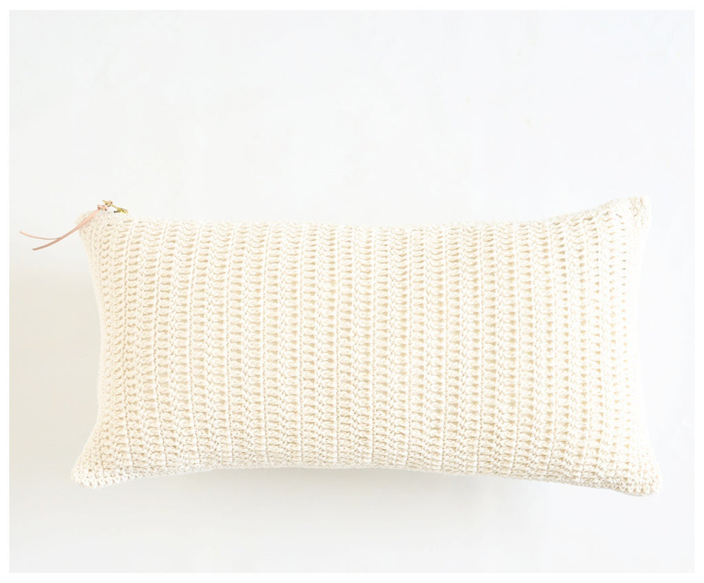 Crocheted Lumbar Pillow