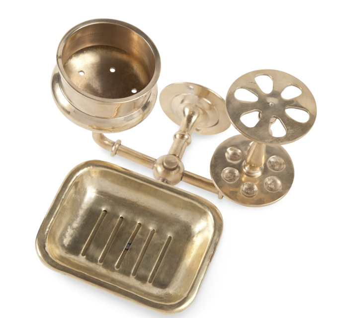 Brass Bath Trio Valet