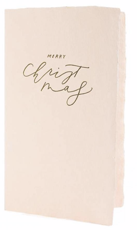 Calligraphy Blush Christmas Card
