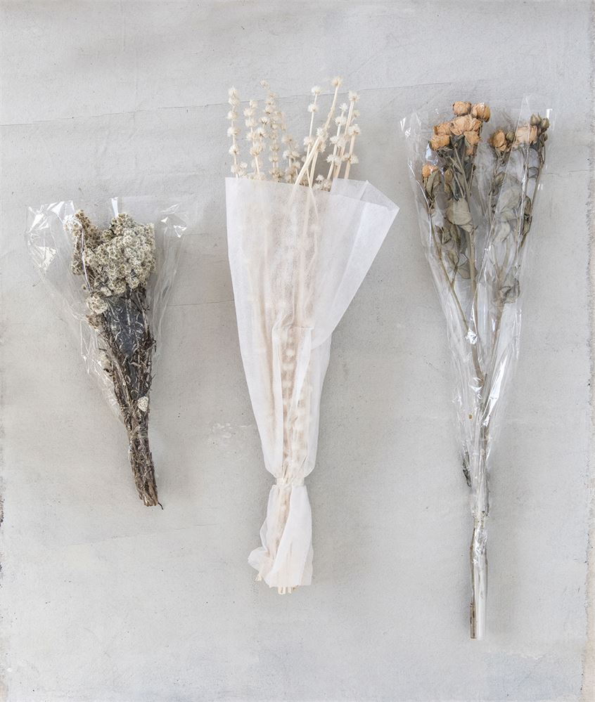 This gorgeous bunch of dried natural Edelweiss is a beautiful companion to any flower bouquet, as a minimal piece inside in a vase, placed on a platter, hanging on a wall, or anywhere in the home!