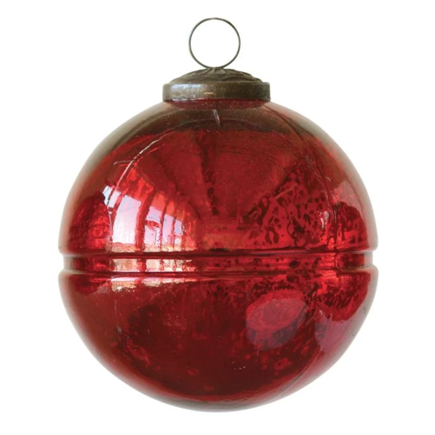 Radiant Red Glass Ornaments