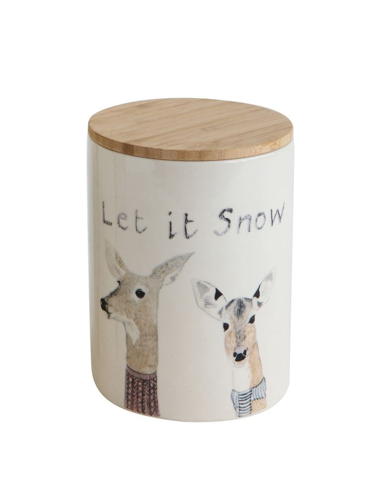 Let It Snow Canister