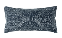 Indigo Lumbar Pillow 12x24