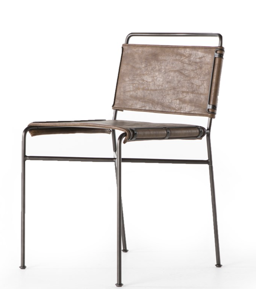 Wallace Dining Chair- Distressed Brown